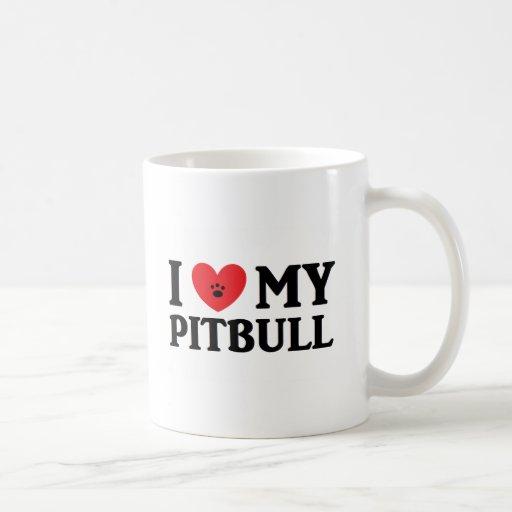 I ♥ My Pitbull Coffee Mugs