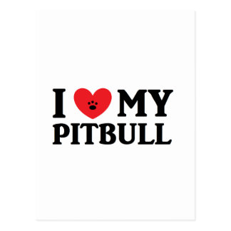 I ♥ My Pitbull Postcard