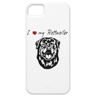 I ❤ my  Rottweiler words & lovely graphic! iPhone 5 Cover
