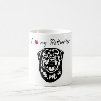 I ❤ my  Rottweiler words & lovely graphic! Coffee Mug