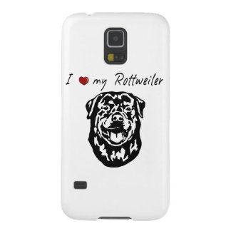 I ❤ my  Rottweiler words & lovely graphic! Galaxy S5 Case