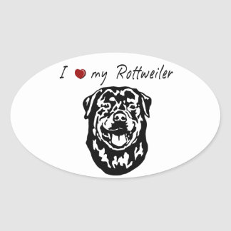 I ❤ my  Rottweiler words & lovely graphic! Sticker