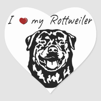 I ❤ my  Rottweiler words & lovely graphic! Stickers