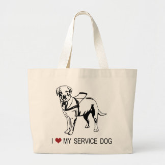 I ❤ my Service Dog words & graphic Tote Bags