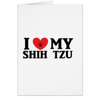 I ♥ My Shih Tzu Card