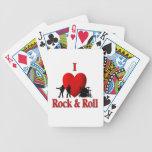 I naipes de la bicicleta de la música del rock-and cartas de juego