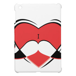 I / Name/ Heart Love Mustache iPad Case