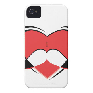 I / Name/ Heart Love Mustache iPhone 4 Case