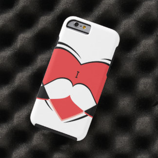 I / Name/ Heart Love Mustache Tough iPhone 6 Case