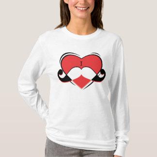 I / Name/ Love Mustache T-Shirt