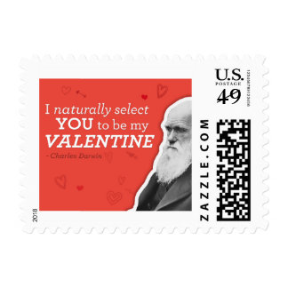 I Naturally Select You To Be My Valentine Stamp