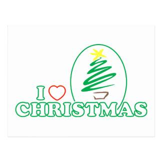 I navidad del corazón árbol de Navidad del garaba Tarjeta Postal