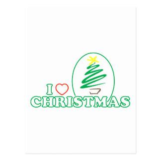 I navidad del corazón árbol de Navidad del garaba Postal