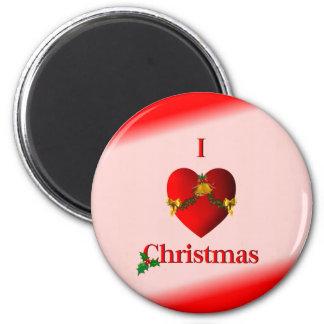I navidad del corazón imán de frigorífico