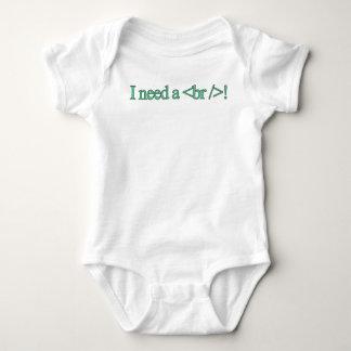 I need a break! baby bodysuit