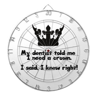 I Need A Crown Dartboard With Darts