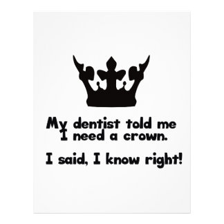 I Need A Crown Letterhead