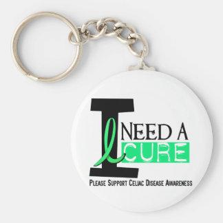 I NEED A CURE 1 CELIAC DISEASE T-Shirts Keychain