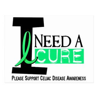 I NEED A CURE 1 CELIAC DISEASE T-Shirts Postcard