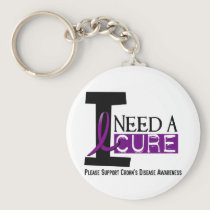 I NEED A CURE 1 CROHN'S DISEASE T-Shirts Keychain