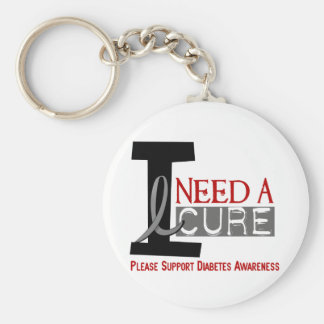 I NEED A CURE 1 DIABETES T-Shirts Basic Round Button Keychain
