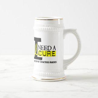 I Need A Cure 1 Endometriosis Beer Stein