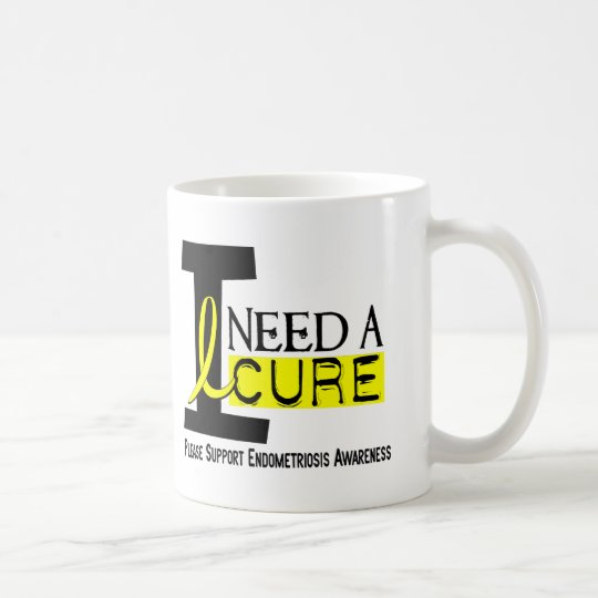 I Need A Cure 1 Endometriosis Coffee Mug