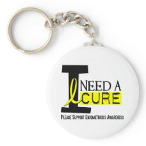 I Need A Cure 1 Endometriosis Keychain
