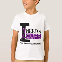 I NEED A CURE 1 EPILEPSY T-Shirts