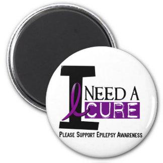 I NEED A CURE 1 EPILEPSY T-Shirts Fridge Magnet