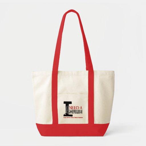 I NEED A CURE 1 JUVENILE DIABETES T-Shirts Impulse Tote Bag