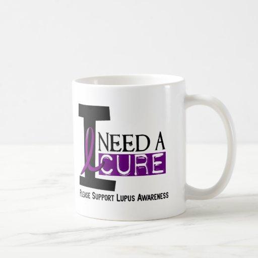 I NEED A CURE 1 LUPUS T-Shirts Classic White Coffee Mug