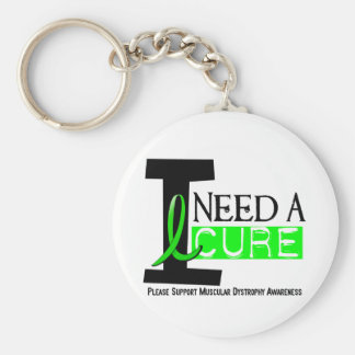 I NEED A CURE 1 MUSCULAR DYSTROPHY T-Shirts Keychain