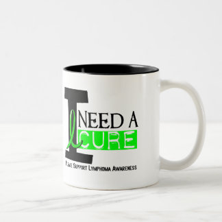 I NEED A CURE 1 NON-HODGKIN'S LYMPHOMA T-Shirts Two-Tone Coffee Mug