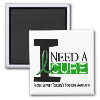 I Need A Cure Tourette's Syndrome 2 Inch Square Magnet