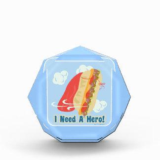 I Need A Hero! Acrylic Award