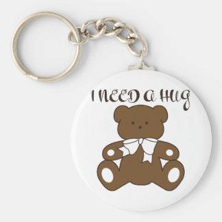 I Need a Hug Basic Round Button Keychain