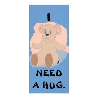 I Need a Hug Bookmark Rack Card Design