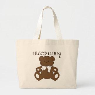 I Need a Hug Large Tote Bag