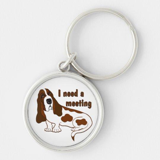 I Need A Meeting Keychain