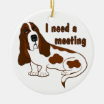 I Need A Meeting Double-Sided Ceramic Round Christmas Ornament
