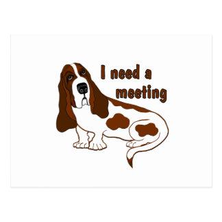 I Need a Meeting Postcard