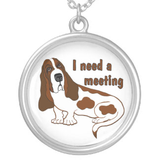 I Need A Meeting Round Pendant Necklace