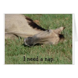 I need a nap card