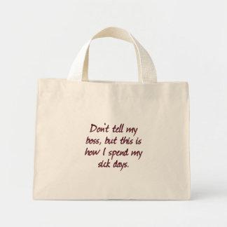 I need a sick day (sq) canvas bag