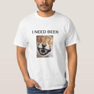 """I NEED BEER"" ROARIN LION GUY'S T-SHIRT"