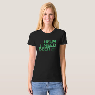 I Need Beer (Sm Light Green Print) Funny Tank Top