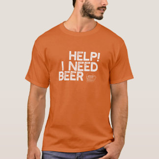 I Need Beer (Sm White Print) Funny Dark T-Shirt