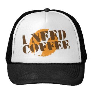I NEED COFFEE MESH HAT