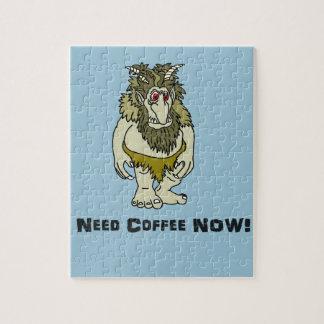I Need Coffee Troll Jigsaw Puzzle